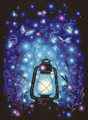 8902 Наш волшебный вечер (Чудесная игла, Чудесная игла) набор для вышивания крестом rto котенок с подарком 10 х 10 см