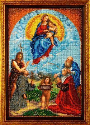 B421 Мадонна ди Фолиньо (Кроше, Кроше) канва с рисунком для вышивания бисером hobby