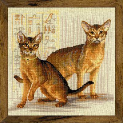 1671 Абиссинские кошки (Сотвори Сама, Сотвори Сама) аннета валюс сутажная вышивка