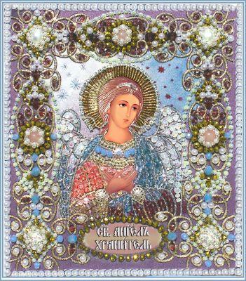 7710 Ангел ХранительОбраза в каменьях (Образа в каменьях, Образа в каменьях) светлица набор для вышивания бисером архангел михаил бисер чехия 1042701 page 6