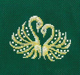 З26 Золотые украшения.Лебеди (Сделай своими руками, Сделай своими руками)