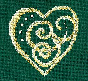 З33 Золотые украшения.Сердце (Сделай своими руками, Сделай своими руками)