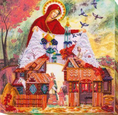 АВ569 Светлый праздник Покрова набор (АбрисАрт, АбрисАрт) набор д творчества preciosa бисер 5гр непрозрачный светлый сапфирово голубой радужный 34020