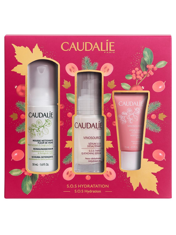 Caudalie Набор SOS средств для увлажнения кожи Vinosource: Сыворотка S.O.S. увлажняющая 30 мл + Очищающий мусс 50 мл + Крем-сорбет увлажняющий 15 мл (Caudalie, Vinosource)