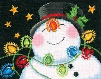 915071DMS Снеговик в фонариках (Dimensions, Dimensions) канва с рисунком матренин посад триумф любви 33 см х 45 см 1134