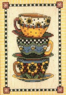 6796DMS Сложенные чашки (Dimensions, Dimensions) набор для вышивания крестом rto котенок с подарком 10 х 10 см