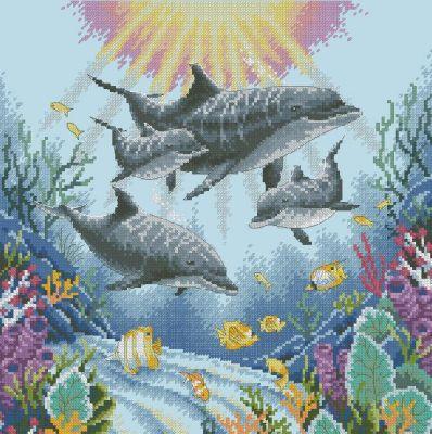 35186DMS Утро дельфинов (Dimensions, Dimensions) набор язык дельфинов