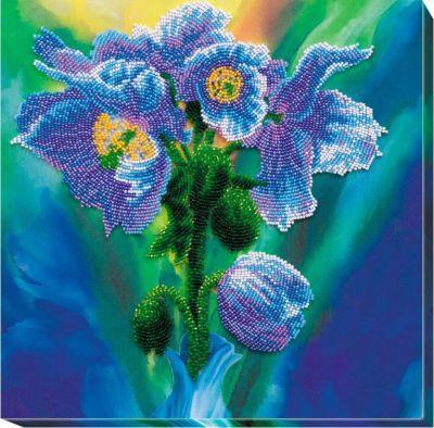 АВ566 Набор Голубые маки (АбрисАрт, АбрисАрт) холст 30х40 маки и сирень х 6171