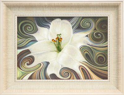 РК109 Лилия белая чм (Чарiвна Мить, Чарiвна Мить) канва с рисунком для вышивания бисером hobby