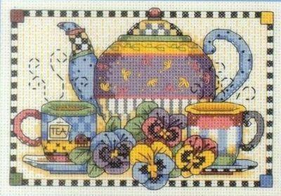 6877DMS Чайные сервиз и анютины глазки (Dimensions, Dimensions)