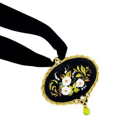 1708АС Кулон Белая роза (Сотвори Сама, Сотвори Сама) аннета валюс сутажная вышивка