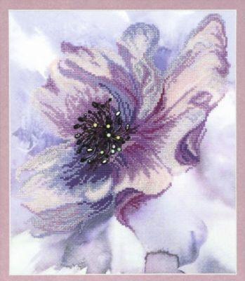 РК097 Лиловое настроение чм (Чарiвна Мить, Чарiвна Мить) канва с рисунком для вышивания орхидеи 28 х 34 см 1316