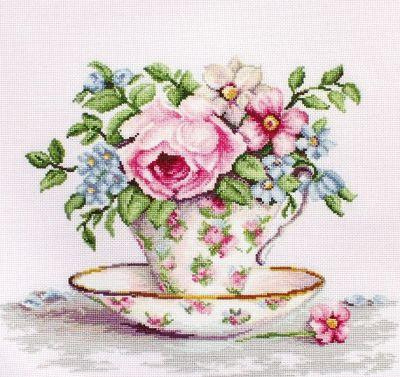 Ba 2321 Цветы в чайной чашке (LucaS) (LucaS, LucaS)