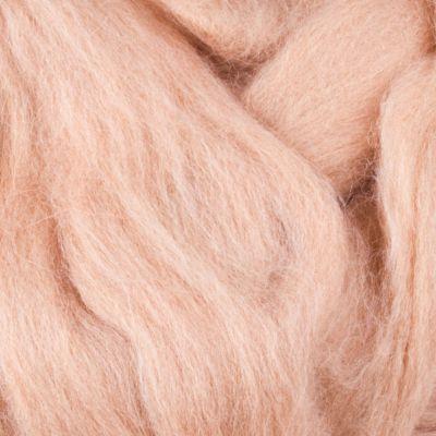 Шерсть для валяния полутонкая Цвет.03 Светло бежевый (Пехорка, Пехорка) набор для творчества hobby time шерсть для валяния полутонкая гребенная лента суровая 50гр
