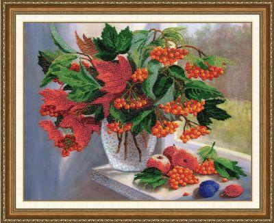 РТ089 Осенний аккорд. Рисунок на ткани (Золотое Руно, Золотое Руно) канва с рисунком для вышивания бисером hobby