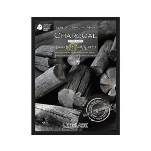 Тканевая маска для лица с экстрактом древесного угля, 23 мл (Lebelage, Lebelage)