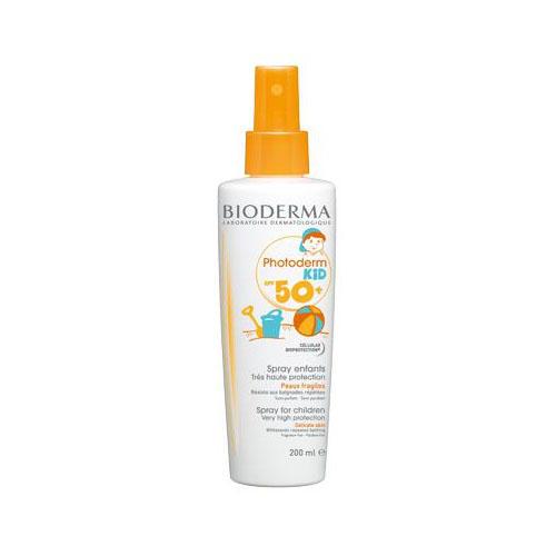 Bioderma Фотодерм КИД Спрей Очень высокая защита SPF50+, 200 мл (Bioderma, Photoderm) bioderma photoderm молочко после солнца 200 мл 1 шт