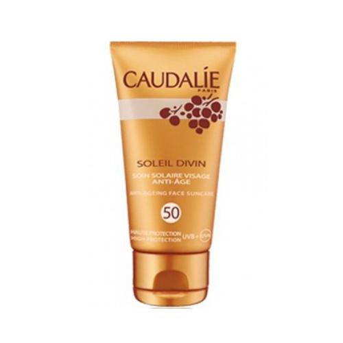 заказать Caudalie Антивозрастной солнцезащитный уход для лица SPF 50 Солей Дивин 40 мл (Teint&Soleil Divin)