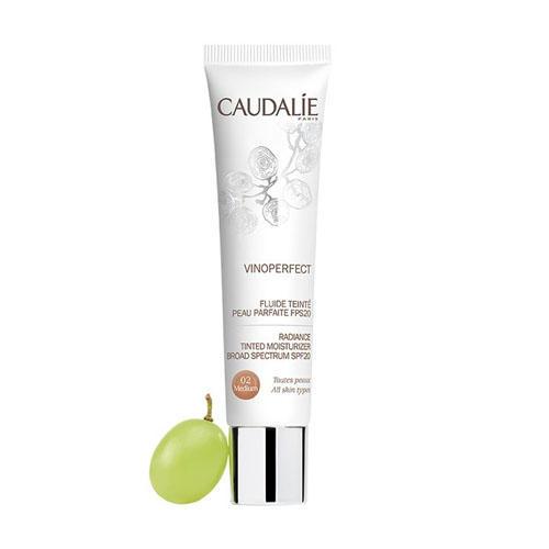 Тонирующий увлажняющий флюид Совершенная кожа SPF 20 Виноперфект тон 02, 40 мл (Caudalie, Vinoperfect)