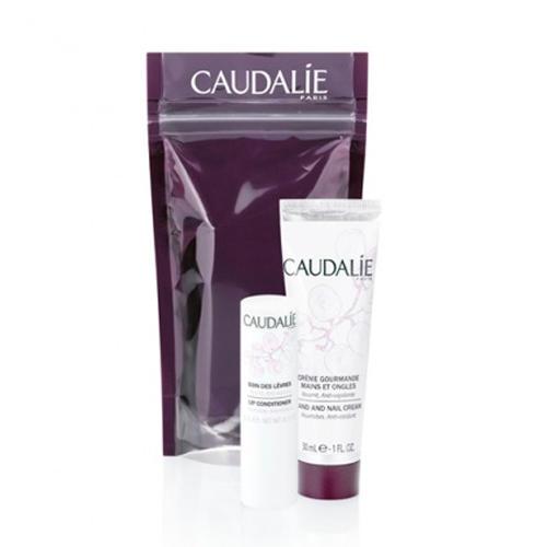 Caudalie Набор Идеальный дуэт (Изысканный крем для рук и ногтей 30 мл + Гигиеническая помада 4,5 гр (Soin corps)