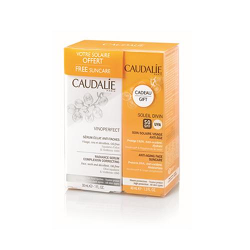 Caudalie Набор для сияния кожи и защиты от солнца Soleil Divine (Vinoperfect)