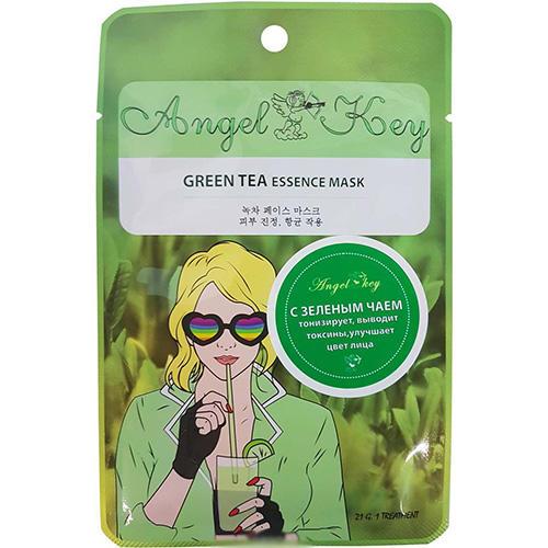 Маска для лица с зеленым чаем, 21 г (Angel key, Уход) недорого
