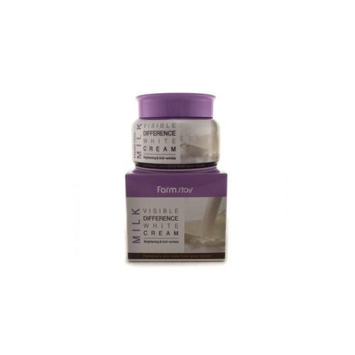 Крем для лица увлажняющий с экстрактом молока 100гр (Farmstay, Для лица) крем для лица с экстрактом розы 100 мл farmstay для лица