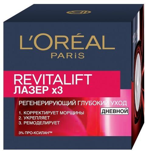 REVITALIFT Антивозрастной крем х3 лица дневной 50мл (LOreal, Revitalift)