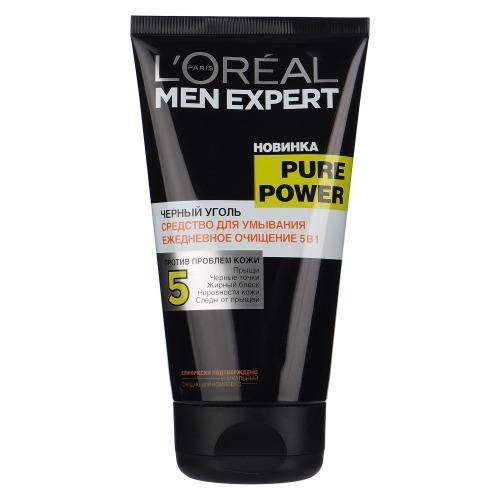 заказать L'Oreal MEN EXPERT Гель для умывания Пюр Пауэр черный уголь 150мл (Men expert)