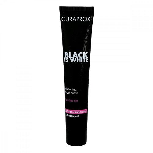 Купить Curaprox Паста зубная Black Is White отбеливающая со вкусом лайма 90 мл (Curaprox, Зубные био-пасты), Швейцария