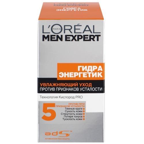 MEN EXPERT Уход для лица увлажняющий Гидра энергетик против пяти признаков усталости кожи 50мл (LOreal, Men expert) men expert уход для лица увлажняющий гидра сэнситив для чувствительной кожи 50мл loreal men expert