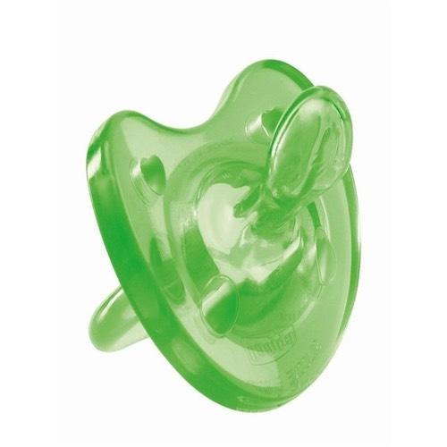 Chicco Пустышка Physio Soft, 1шт.,4мес.+, силикон, зеленый (Пустышки)