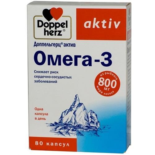 Омега 3 80 капсул (Doppelherz, Актив) комплекс жирных кислот и витамина е 60 капсул solgar жиры и жирные кислоты