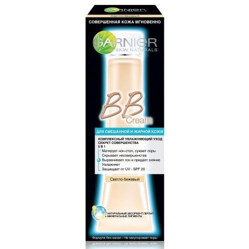 Купить со скидкой Garnier BB-крем для жирной кожи Секрет Совершенства Светло-бежевый 40мл (Garnier, BB-кремы)