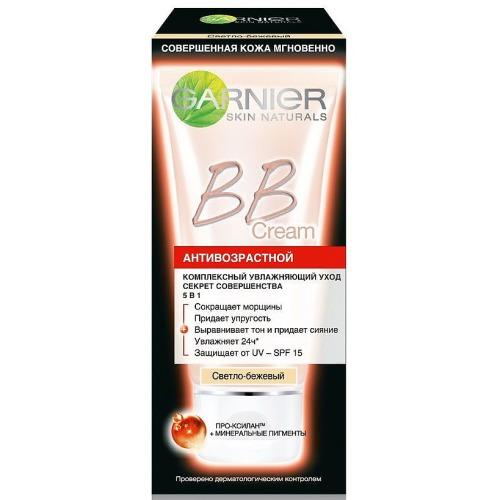 ВВкрем Секрет Совершенства Антивозрастной светлобежевый 50мл (Garnier, BBкремы) bbкрем для жирной кожи секрет совершенства натуральный 40мл garnier bbкремы