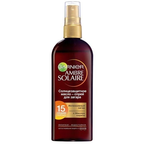AMBRE SOLAIRE Интенсивный загар Маслоспрей SPF15 150мл (Garnier, Amber solaire)