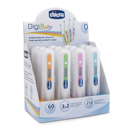 Chicco Термометр педиатрический DigiBaby, 3-в-1, цифровой в футляре, 0 мес.+ (Аксессуары)