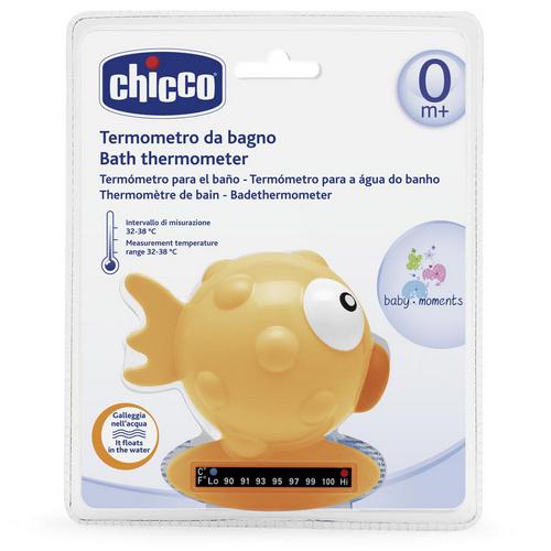 Термометр для ванны РыбаШар,жёлтый, 0мес. 1 шт. (Chicco) термометр педиатрический digibaby 3в1 цифровой в футляре 0 мес chicco аксессуары