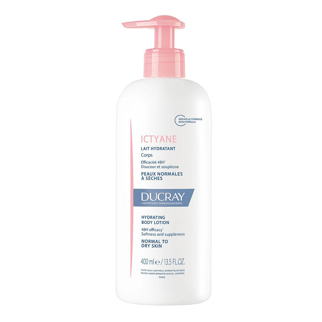 Ducray Защитное увлажняющее молочко для тела Иктиан 400 мл (Ducray, Сухая кожа) ducray неоптид лосьон от выпадения волос для мужчин 100 мл