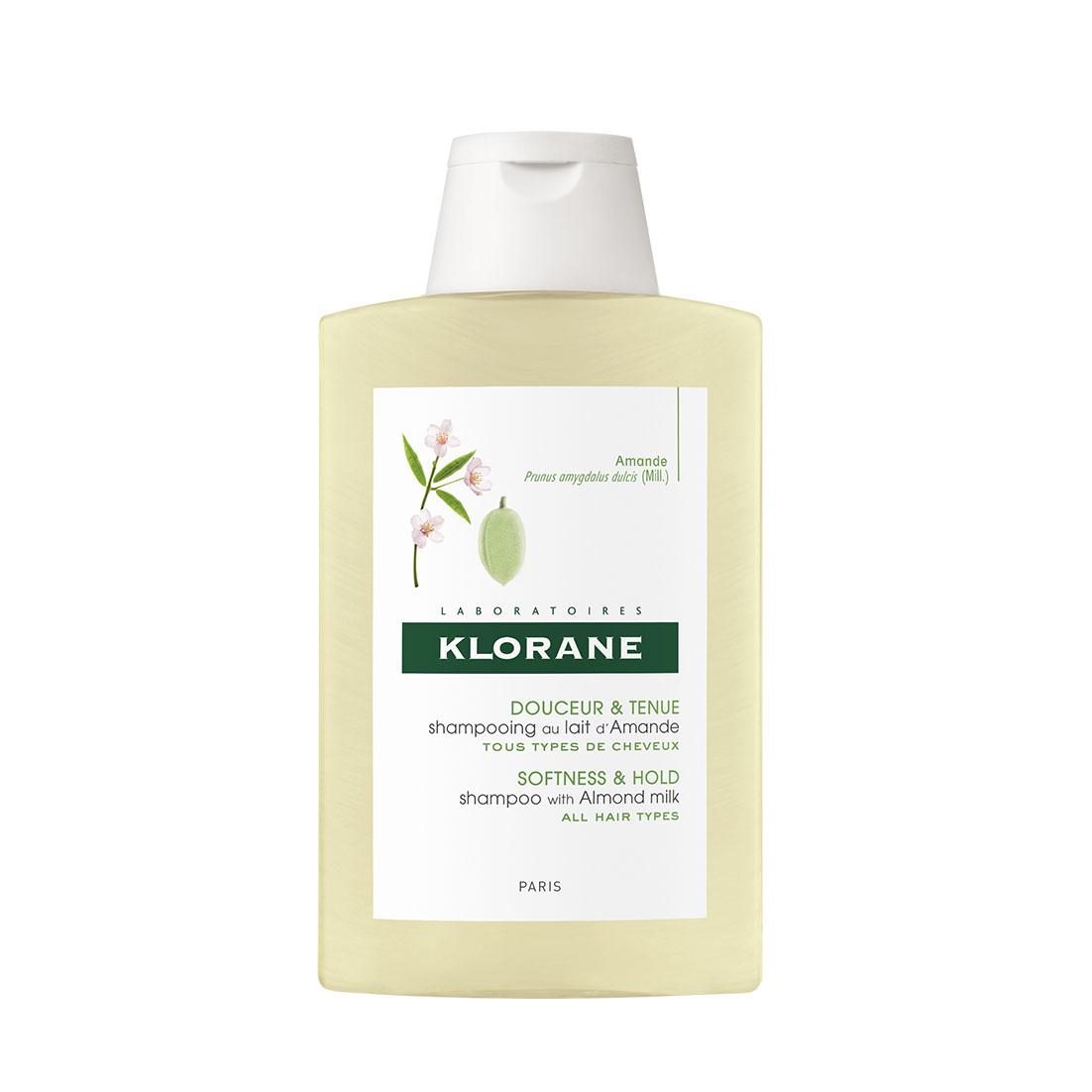 Klorane Шампунь с молочком миндаля для придания объёма тонким волосам 200мл (Klorane, Volume plump)