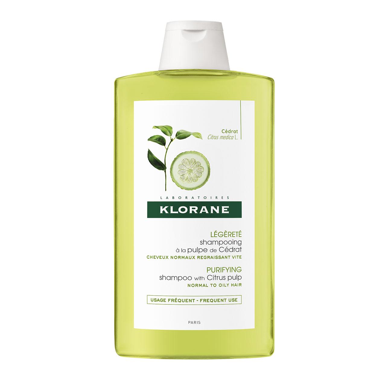 Купить Klorane Тонизирующий шампунь с мякотью цитрона для блеска волос 400 мл (Klorane, Dull Hair), Франция