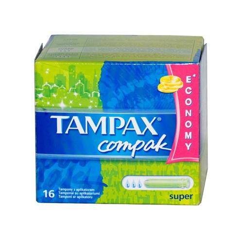 Tampax Компак Тампоны с аппликатором супер по 16 шт (Tampax, Compak)
