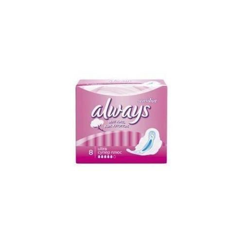 Always Прокладки Ультра плюс сенсетив супер   8 шт (Always, Ultra Sensitive)