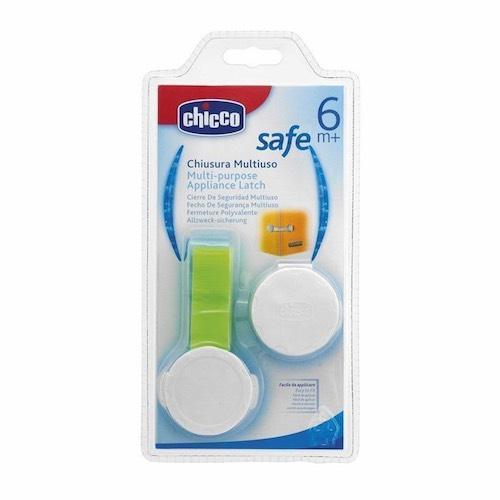 Защита для дверей Safe на шкаф холодильник унитаз, с липкой лентой,1шт (Chicco, Аксессуары)