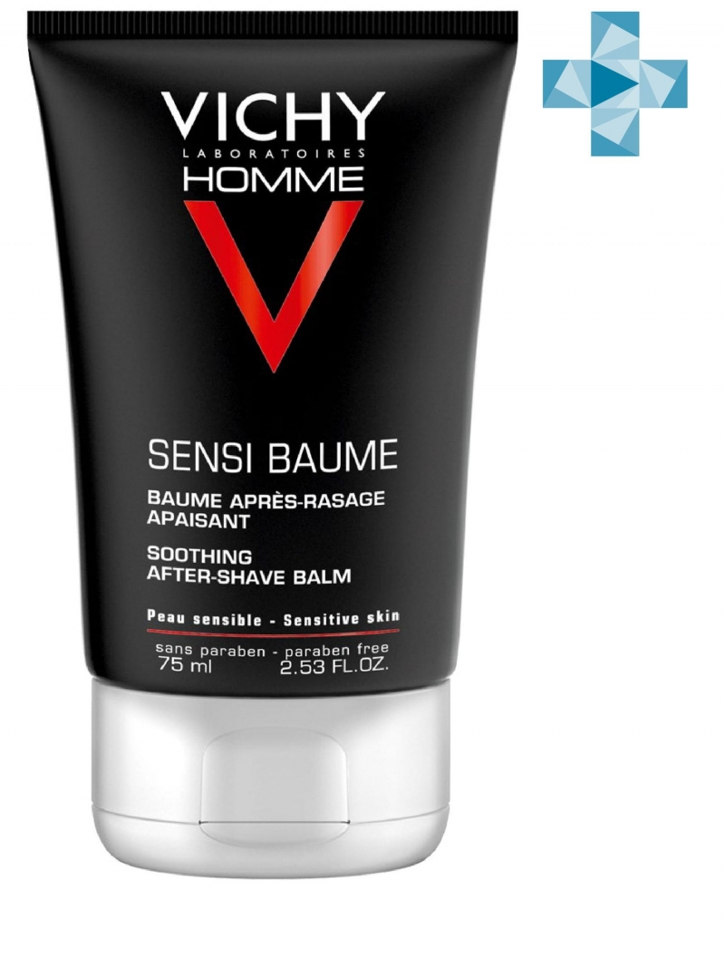 Vichy Бальзам смягчающий после бритья для чувствительной кожи Sensi Baume Ca 75 мл (Vichy, Vichy Homme) vichy cellu metric