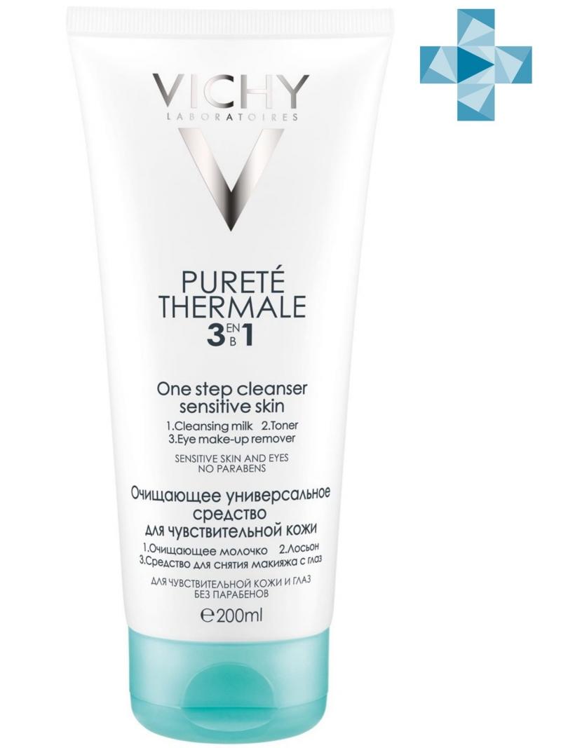 Vichy Универсальное средство для снятия макияжа Пюрте Термаль Интеграль Демакияж (3в1) 200 мл (Vichy, Purete Thermal)