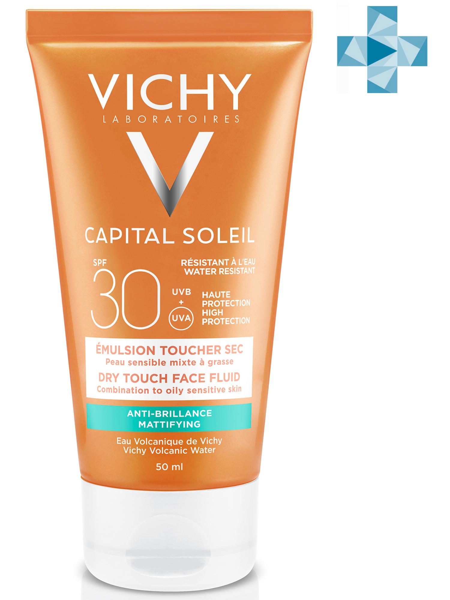 Купить Vichy Матирующая эмульсия для лица ДРАЙ ТАЧ SPF 30, 50 мл (Vichy, Capital Ideal Soleil), Франция