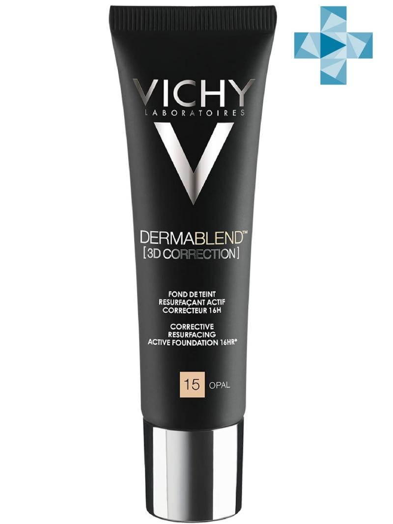 Дермабленд Тональная основа с высоким покрытием 3D Тон 15, 30 мл (Vichy, Dermablend) корректирующая тональная основа vichy dermablend 3d тон 25 30 мл для жирной проблемной кожи