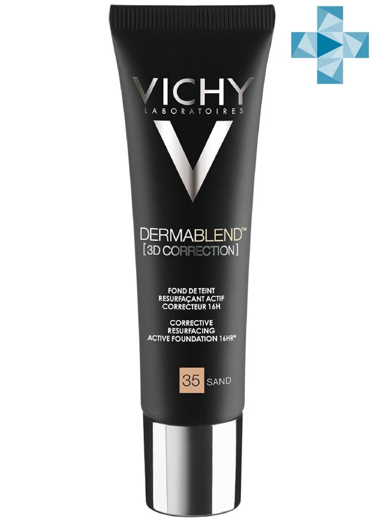 Vichy Дермабленд Тональная основа с высоким покрытием 3D Тон 35, 30 мл (Vichy, Dermablend) фото