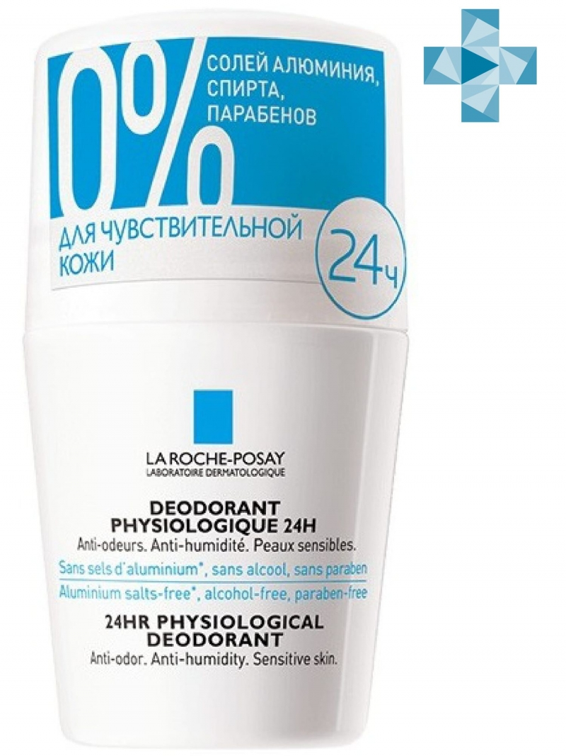 La Roche-Posay Дезодорант-ролик физиологический 24 ч, 50 мл (La Roche-Posay, Deodorant)